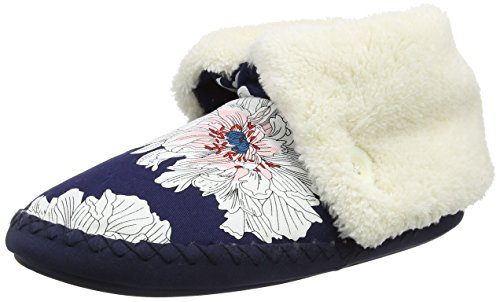 Joules Damen Potter Hohe Hausschuhe, Blue (French Peony Floral), 40/41 EU (Tumble Bell)