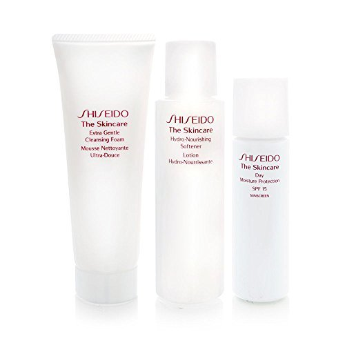 Shiseido The Skincare Moisturizing 1-2-3 Kit Extra Gentle Cleansing Foam 2.8oz + Hydro-Nourishing Softener 3.3oz (3.3 Ounce Cleansing Foam)
