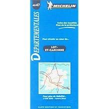 Carte routière : Lot-et-Garonne, 4047, 1/150000  (Français - Anglais)