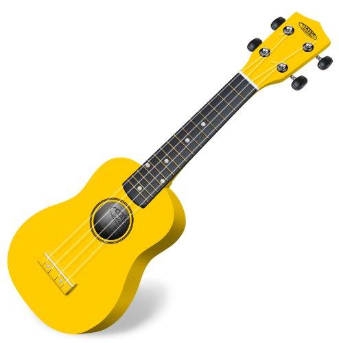 Classic Cantabile US-100 YE Sopranukulele (Ukulele, Uke, 15 Bünde, leichtgängige Gitarrenmechanik) gelb