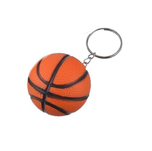 Basketball Knautsch Ball Schlüsselanhänger Knautschball Orange