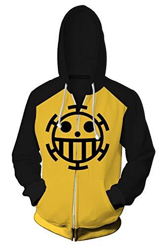 Herbst Winter 3D Zip Up Hoodie Kapuzenpullover Cosplay Kostüm Teens Anime Reißverschluss Jacke Sweatshirt Kleidung Top - Kapuze T Shirts Langarmshirts Hoodie Oversize mit ()