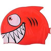 8819809f2adc Homyl Cuffia da Piscina in Silicone Resistente Flessibile Accessori di Nuoto  per Bambini - Squalo Rosso