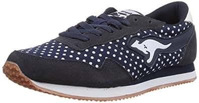 KangaROOS Invader Dots, Sneakers basses femme, Bleu (Dk Navy 460), 42