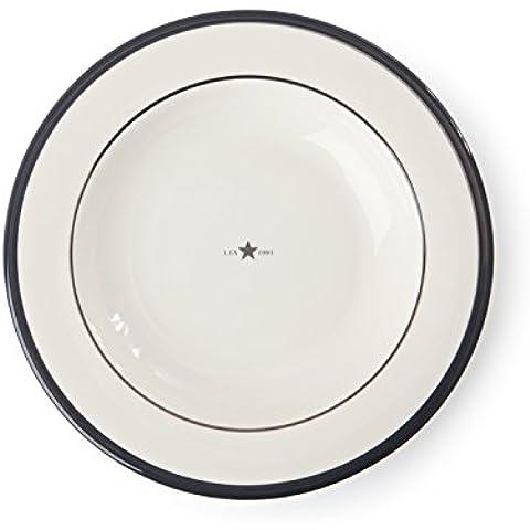 Lexington piatto fondo ceramica, colore: grigio, confezione da 4