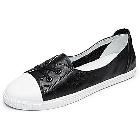 Zapatos de cuero/ Europa y el viento los zapatitos blanco/Zapatos ocasionales de la cinta alrededor de la cabeza/Calzado transpirable