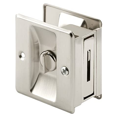 Prime-Line Products N 7239 Pocket Door Privacy Lock with Pull, Satin Nickel by Prime-Line Products