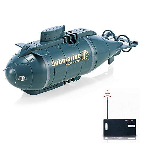 Ceepko Ferngesteuertes Boot Mini, RC Unterseeboot(Schwarz) Für Kinder, Wiederaufladbar wasserdichte Beleuchten Elektrische Spielzeuge Geschenk