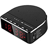 ZJHNZS Haut Parleur Bluetooth Radio-réveil numérique avec Haut-Parleur Bluetooth,...