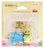 Sylvanian Family 2952, Ocher Hase Baby mit dem Zug