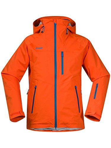 Bergans Norefjell Jacket Men - Wintersportjacke mit Schneefang koi orange/ocean/lt winte