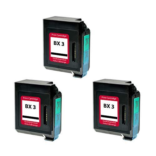 Set 3 Tintenpatrone für Canon BX-3 - Schwarz, kompatibel -