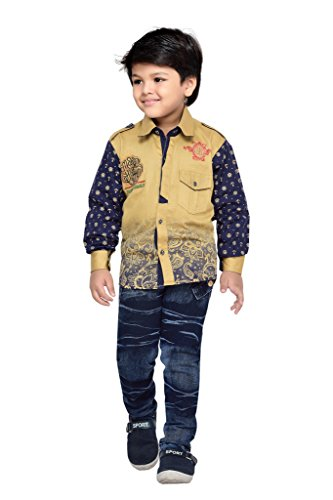 AJ Dezines Kids Party Wear Shirt and Jeans Clothing Set for Boys...