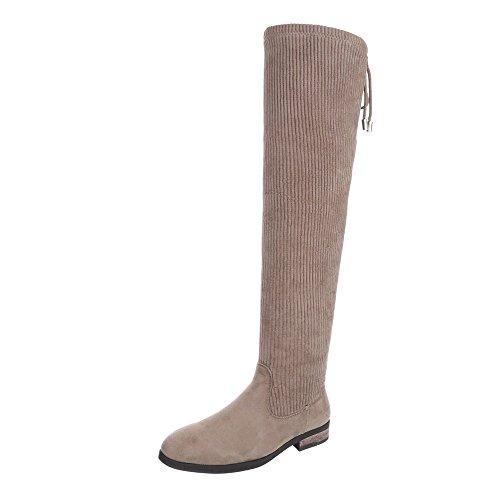 Chaussures Pour Femmes Block Heel Overknees Ital-design Bronzage
