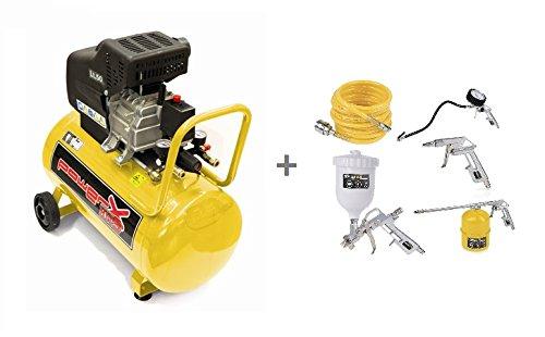 Compressore lubrificato ad olio 50 LT, 2 HP, 8 BAR, 170 LT/MIN,...