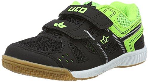 Lico Catcher V, Chaussures de Fitness Mixte Enfant Noir (Schwarz/Lemon)