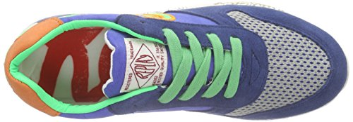 Replay Manor, Baskets Basses garçon Multicolore - Mehrfarbig (ROYAL FLUO GREEN 2318)