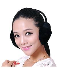 USFUR Unisex Warme Winter Weiche Ohrenschützer aus Echte Kaninchen Fell Ohrenklappe Ohrenwärmer