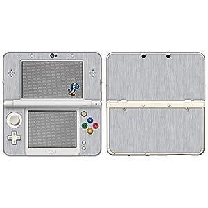 atFoliX Skin kompatibel mit Nintendo New 3DS 2015, Designfolie Sticker (FX-Brushed-Alu), Gebürstet / Bürsten-Struktur