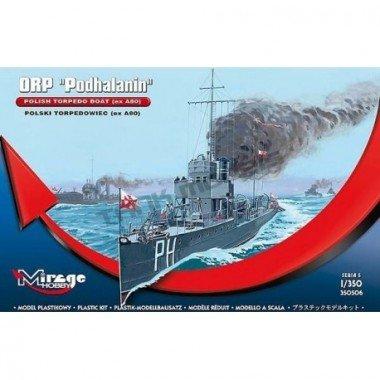 Modellino nave da guerra orp podhalanin polacco torpedo boat exa80 scala 1: 350