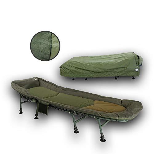 Lucx 2er Set Angelliege, 8 Beine Bedchair Cover Guardian Bedchair / 8 Bein Karpfenliege/Gartenliege