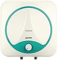 Havells Quatro 15 Litre Vertical Storage Water Heater (White Green)