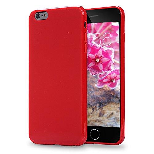 hone 6S Schutzhülle, FGA Sugar Candy Cute Slim Dünn Perfekt Passform Farbe Schutz stoßfest Soft Flexible TPU Gel-Schutzhülle für iPhone 6(2014), iPhone 6S (2015) 11,9cm, Rot ()
