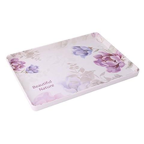 DealMux Melamin Blumenmuster Küche Geschirr rechteckig geformter Cup Tablett