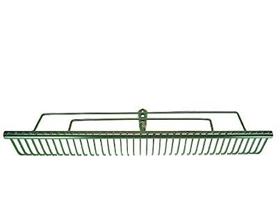 HaWe Rasenrechen 700 mm mit 40 Zinken, Metall, silber, 70 x 15 x 10 cm