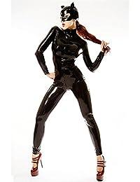 XDB Lencería Mujer Mono Disfraz de Gato Mujer Costume Catsuit Traje con  Mascara Bodysuit para Mujeres b669b815b471