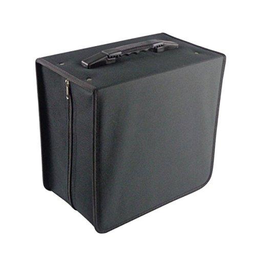 Gugutogo 500 Disc Pratico Oxford Box CD Custodia DVD Custodia per il  trasporto Borsa Organizzatore Supporto Media Video Borsa Accessori (Colore:  Nero)