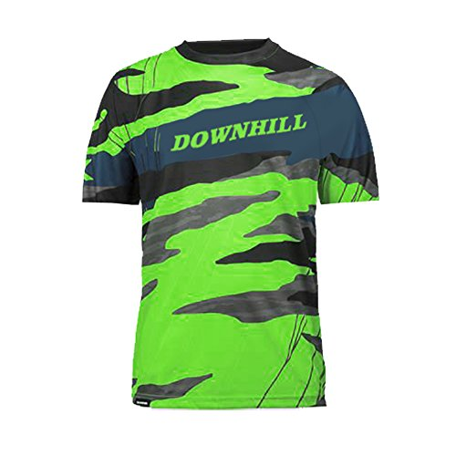 Uglyfrog Bike Wear Atmungsaktiv Trendy Herren Downhill/MTB Jersey Mountain Bike Shirt Fahrradtrikot Kurzarm Freeride BMX Top MF10