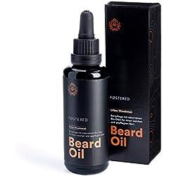FOSTERED Bartöl Urban Woodsman aus Bio Ölen - Hochwertiges Bartpflege Öl 50 ml für einen natürlich weichen, gepflegten Bart