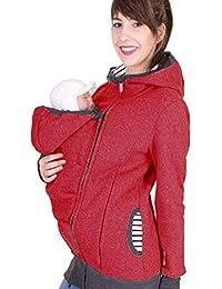Sweat à Capuche Porte-bébé Vêtements de maternité Veste à Capuche Kangourou  Multicolore pour mère f8d5ab09049