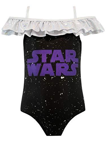 Star Wars Mädchen Badeanzug Schwarz (Mädchen Aus Star Wars)