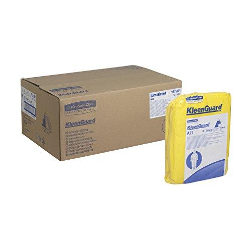 Preisvergleich Produktbild KleenGuard 96790 A71 Schutzanzug gegen Chemikalien-Sprühnebel, Overall mit Kapuze, 10er Pack