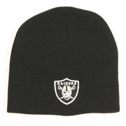 NFL Classic Mütze ohne Aufschlag Hat-Fußball Knit Skull Cap, unisex damen Jungen Herren, Oakland Raiders - Black -