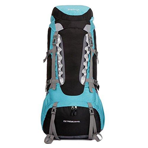 SZH&BEIB Wanderrucksack Extra Large Kapazität 65L für Outdoor-Reisen Bergsteigen Tasche wasserdicht Nylon B