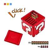 Aolvo Support de cartes de jeu pour Nintendo Switch 12en1 Boîte mignonne et compacte pouvant contenir jusqu'à 8cartes de jeu NS et 4cartes Micro SD, rouge