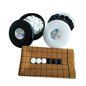Dfghbn-YXWJ Go Game Set Go Game Set Magnetische Single Convex Stones – Reisefertig for Kinder und Erwachsene Strategie…