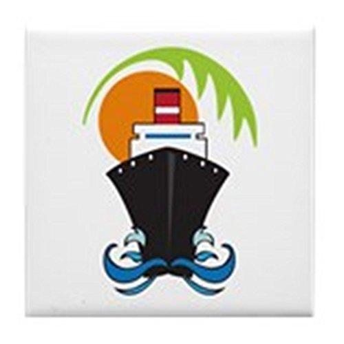 CafePress - Caribbean Cruise - pour carrelage Dessous de Verre, dessous de boisson, petite Dessous de Plat