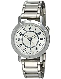 Fastrack Analog Silver Dial Women's Watch -NK6112SM01