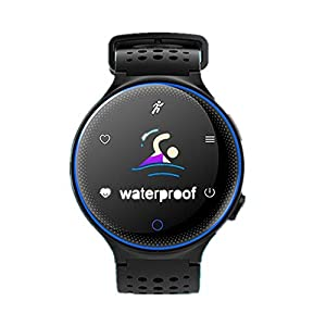 Jersh Smart Electronic Watch,X2Plus Motion Pedometer Activity Heart Rate Monitor Fitness Tracker Smart Watch Round Dial Analogue Display Message Reminder Step Counter Smart Bracelet