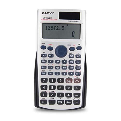 EdBerk74 Handheld Professional Multi-functional LCD 2 Line Display Scientific Calculator Solar Powered Accounting Mathematic Calculator