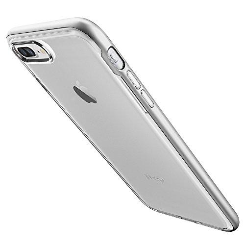 Coque iPhone 7 Plus, Spigen® [Neo Hybrid Crystal] [Argent] Clear TPU / PC Frame Dual Layer Premium Housse Etui Coque Pour iPhone 7 Plus - (043CS20684) Argent/Clair