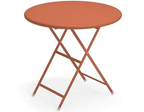 Emu Table Arc en Ciel Ronde cm. Ø 80 Art. 346 Couleur Rouge Acier Code 26