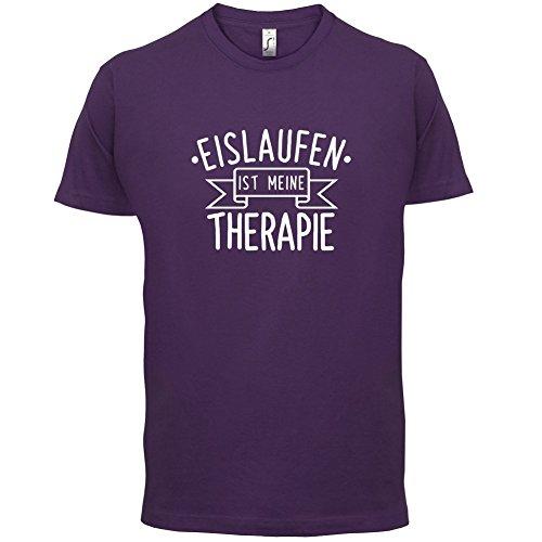 Eislaufen ist meine Therapie - Herren T-Shirt - 13 Farben Lila