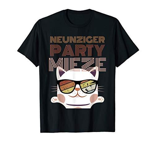 90er Süße Jahre Kostüm - 90er Jahre Party Mieze Kostüm Motto Outfit Kleidung Katze T-Shirt