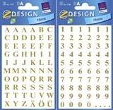 Avery Zweckform 10 x Buchstaben 6,5mm Helvetica Cond. Schwarz/weiß selbstklebend Folie 2 Bögen