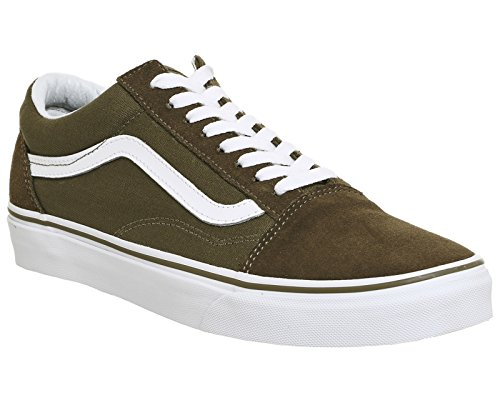 Vans Herren Old Skool Plateau Dark Olive White